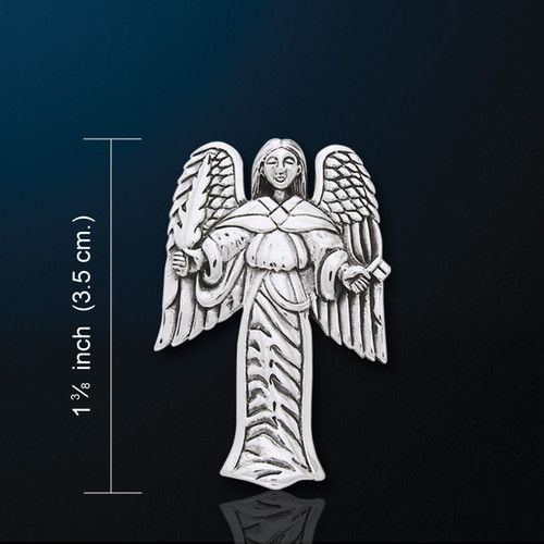 Guardian Angel Pendant (Silver Plated)