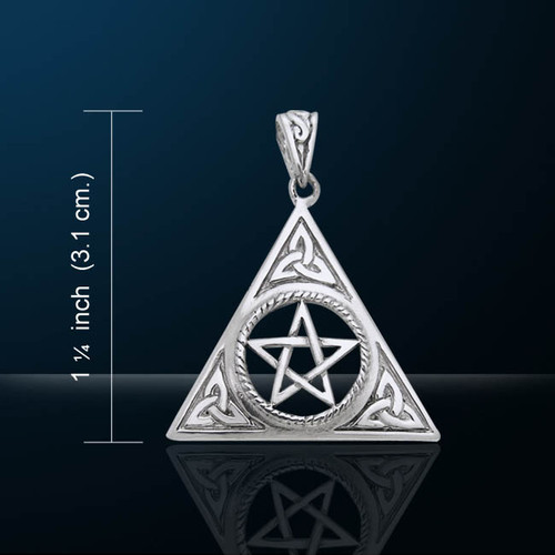 Triquetra and Pentacle Pendant (Silver Plated)