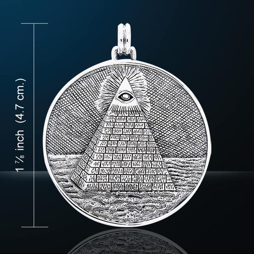 Mystic Pyramid Pendant (Silver Plated)