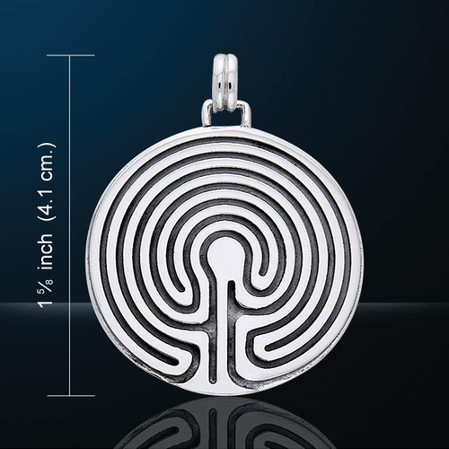 Processional Labyrinth Pendant (Silver Plated)