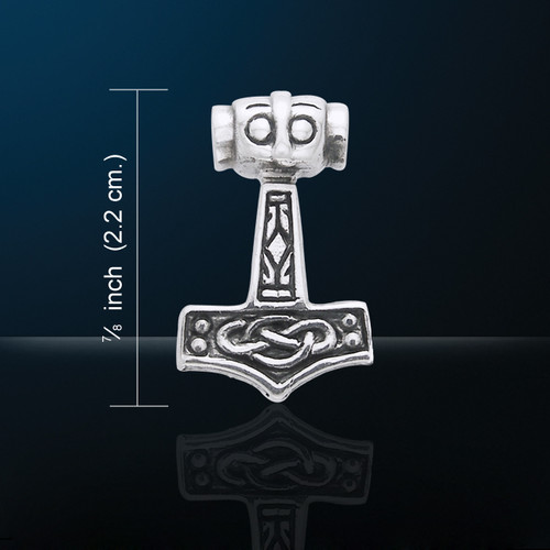 Thor's Hammer Pendant (Silver Plated)