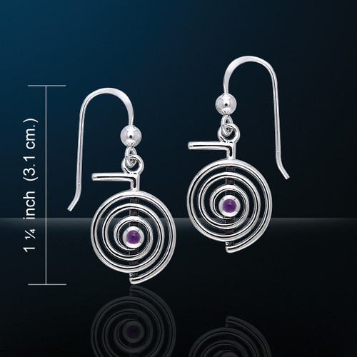 Reiki Spiral Earrings (Silver Plated)