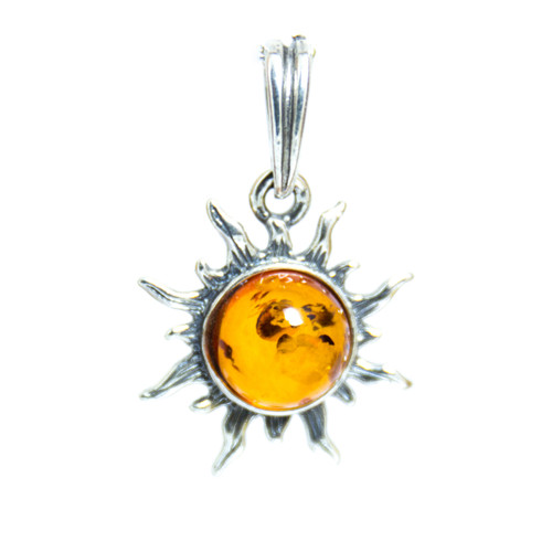 Cognac Amber - Sun Pendant