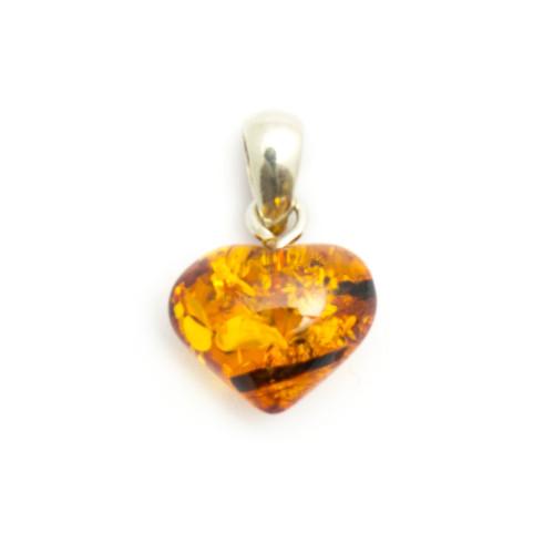 Coganc Amber - Heart Pendant (Small)