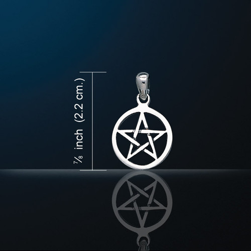Small Pentacle Pendant (Silver Plated)