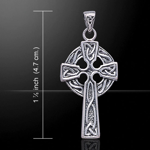 Celtic Knotwork Cross Style Pendant (Sterling Silver)