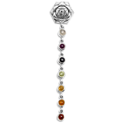 Chakra Pendant with Crystals (Sterling Silver)