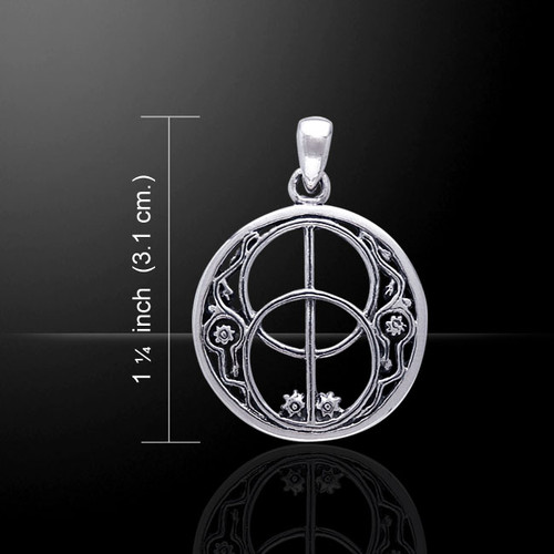 Chalice Well Symbol Pendant (Sterling Silver)