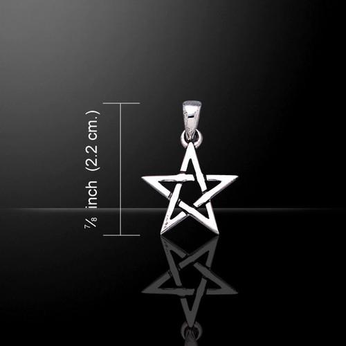 Pentagram Pentacle Star Pendant (Sterling Silver)