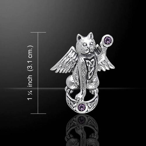 Magickal Cat Pendant (Sterling Silver)