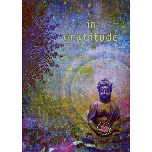 Gratitude Buddha Card (Thank You Message)