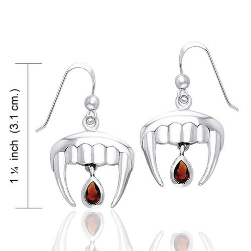 Vampire Teeth Earrings (Sterling Silver)