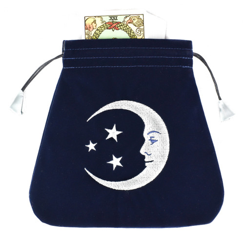 Smiling Moon Velvet Tarot / Oracle Card Bag