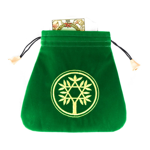 Celtic Tree Velvet Tarot / Oracle Card Bag