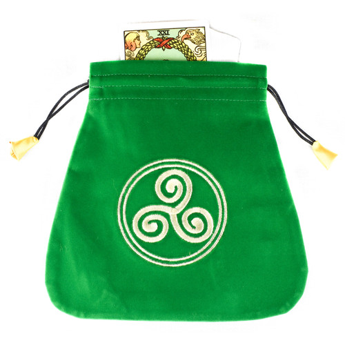 Celtic Triskel Velvet Tarot / Oracle Card Bag