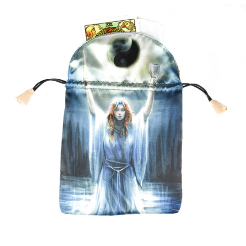 Sacred Priestess Satin Tarot / Oracle Card Bag