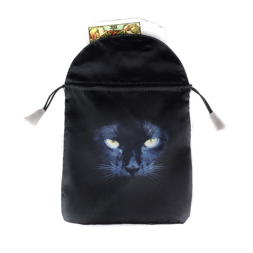 Black Cat Satin Tarot / Oracle Card Bag