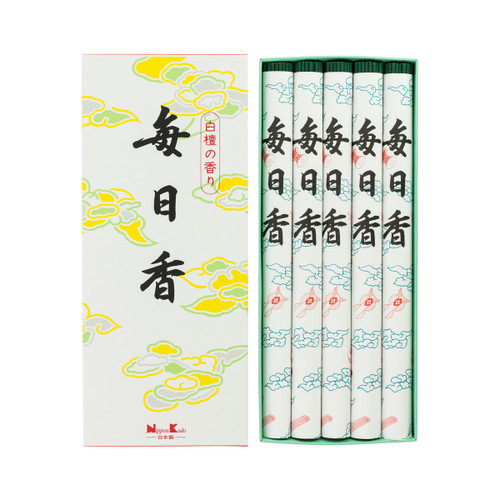 Mainichi-Koh Viva Incense - 5 Rolls (250 Sticks)