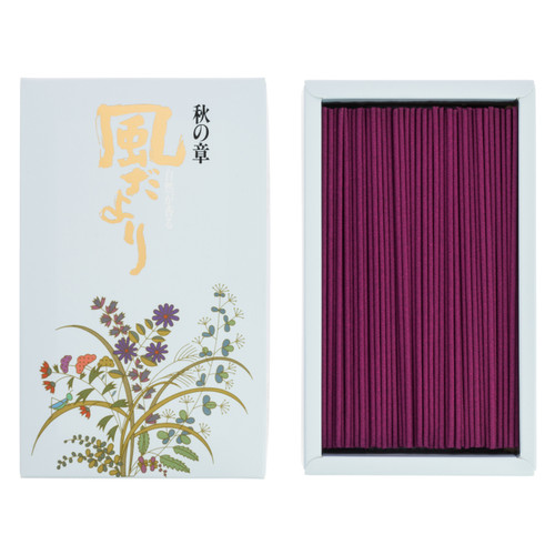 Kazedayori Autumn Incense (360 Sticks)