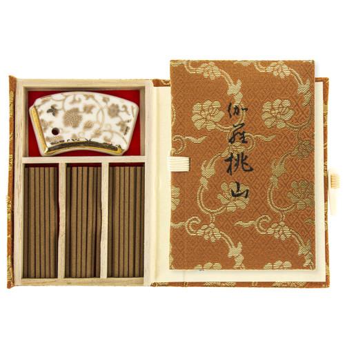 Kyara Momoyama Premium Aloeswood Incense (36 Sticks & Incense Holder)