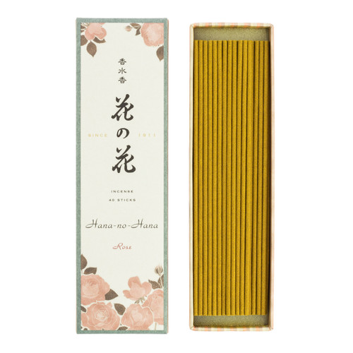 Hana no Hana Rose Incense (40 Sticks)