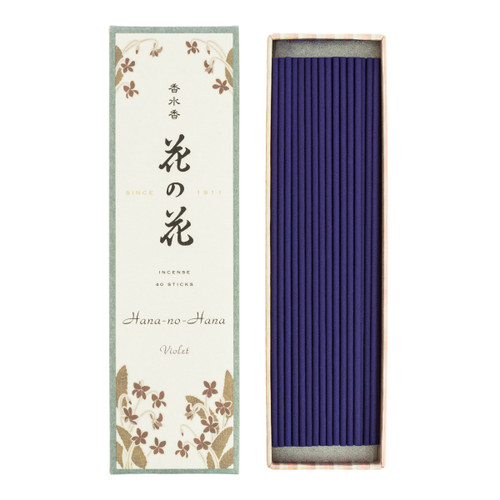 Hana no Hana Violet Incense (40 Sticks)