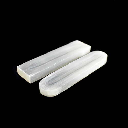 Polished Selenite Bar with Groove