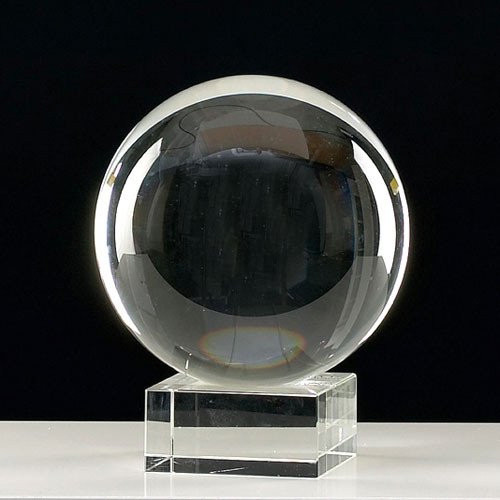 Crystal Ball with Glass Stand (6cm)