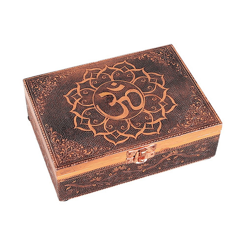 Om Symbol Tarot Box with Copper Effect