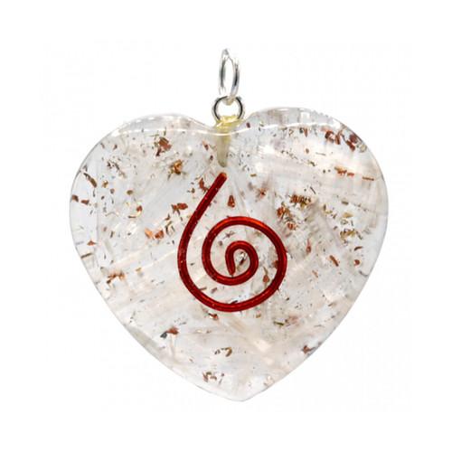 Orgone Selenite Heart Pendant