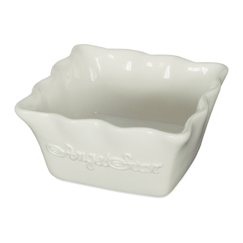 White Square Glazed AngelStar Dish (9cm)