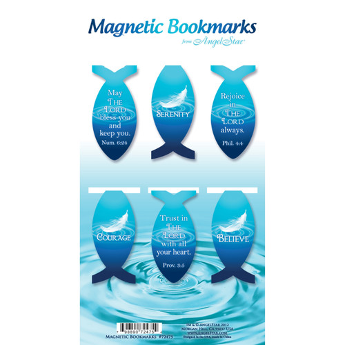 Ichthus Fish Magnetic Bookmarks (Pack of 6)