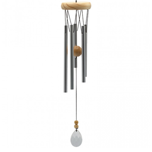 Wind Chime Round with Five Chimes & Crystal Windcatcher
