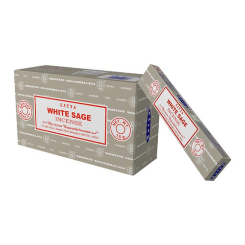 White Sage Incense (Satya) - Big Box of 12 x 15g