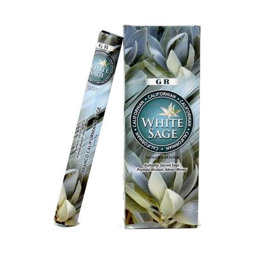 Californian White Sage Incense (6 x 20g Boxes)