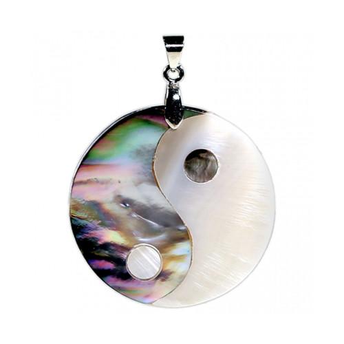 Mother of Pearl Yin Yang Pendant
