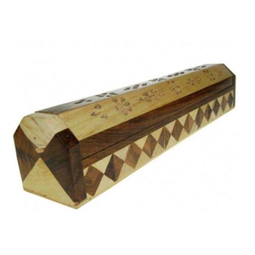 2 Coloured Wood Incense & Storage Holder