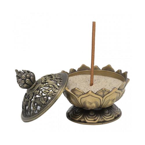 Bronze Lotus Incense Holder