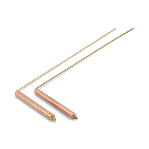 Brass Dowsing Rods with Copper Handle