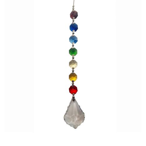 Harmony Chakra Crystal Leaf with Gift Box (20cm)