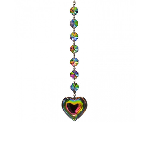 Aurora Heart Crystal Window Decoration