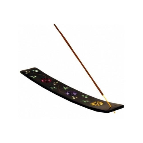 Soapstone Incense Holder with Flower Design