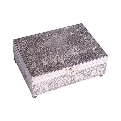 Dreamcatcher Wooden Embossed Storage Box