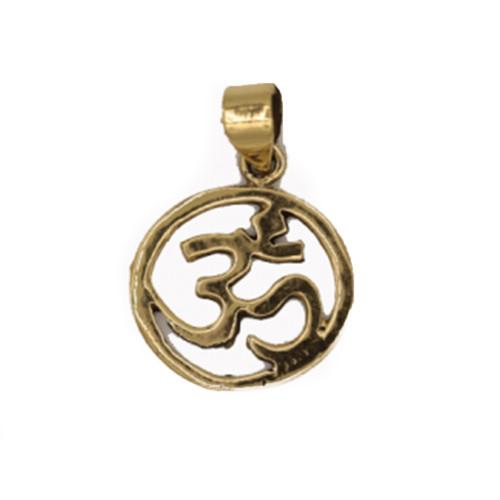 Om Symbol Golden Brass Pendant