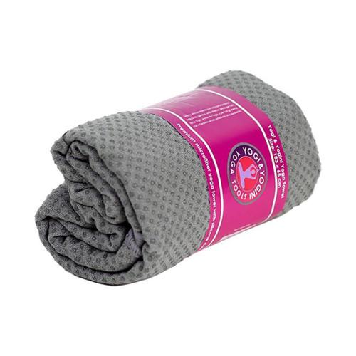Grey Yoga Towel with Bag