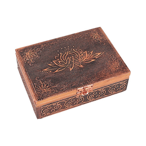 Lotus Tarot Box with Copper Effect