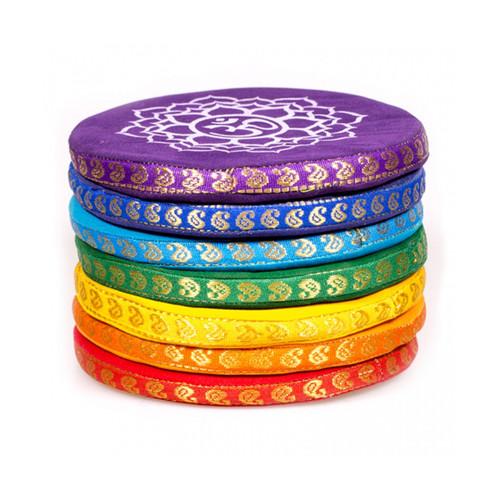 Set of 7 Chakra Singing Bowl Cushions (14.5cm)