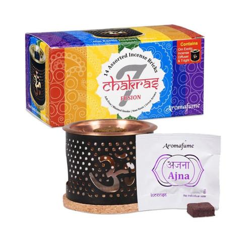 Aromafume 7 Chakras Sample Set & Diffuser (14 Incense Bricks)