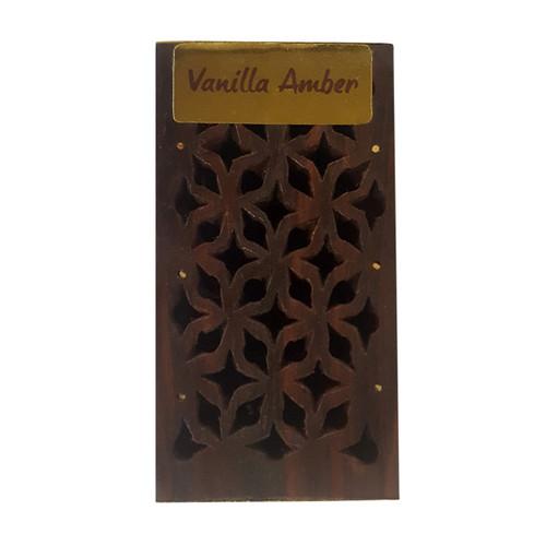 Vanilla / Amber Incense Resin in Wooden Box