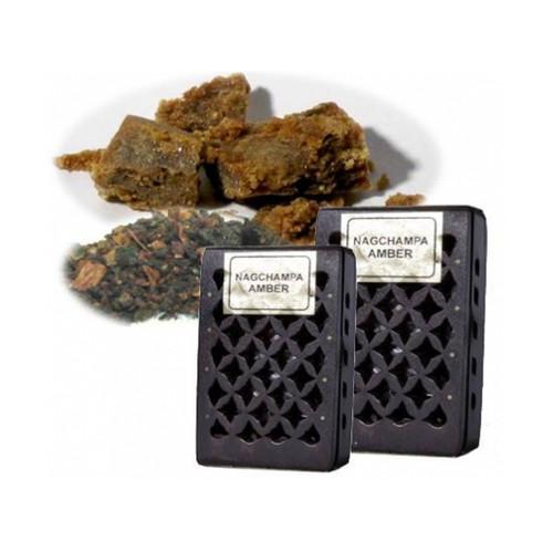 Nag Champa / Amber Incense Resin in Wooden Box